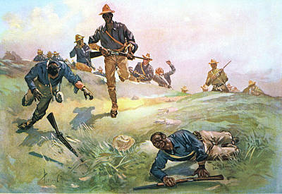 Black History Painting - 1890s 1898 Spanish American War African by Vintage Images
