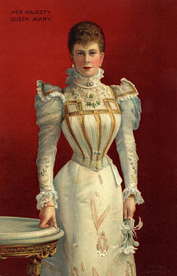 Queen Mary Painting - 1890s Portrait Of Her Majesty Queen by Vintage Images