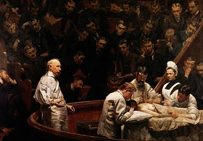Healer Painting - 1890s The Agnew Clinic Painting by Vintage Images