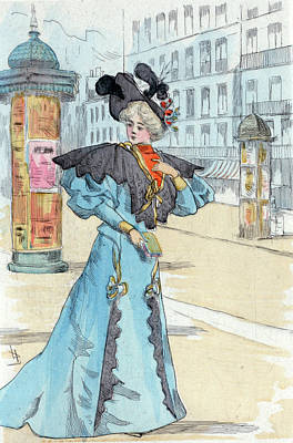 Belle Epoque Drawing - 1892, Womens Fashion In Nineteenth-century Paris by Artokoloro
