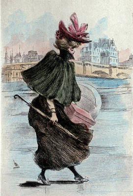 1893, Womens Fashion In Nineteenth-century Paris Art Print by Artokoloro
