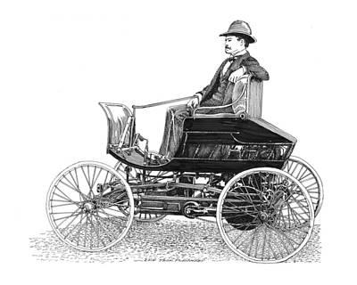 Drawing - 1894 Haynes Pioneer 1 by Jack Pumphrey