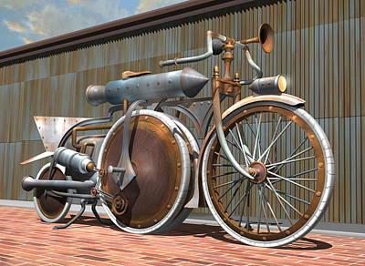 1895 Schwartze Quad Steambike Original by Stuart Swartz