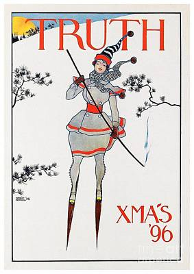Digital Art - 1896 - Truth Magazine - Christmas Issue - Advertisement Poster - Color by John Madison