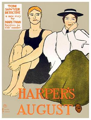 Digital Art - 1897 - Harpers Magazine Poster - Color by John Madison