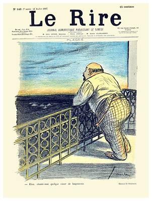 Rire Digital Art - 1897 - Le Rire Journal Humoristique Paraissant Le Samedi Magazine Cover - July 31 - Color by John Madison