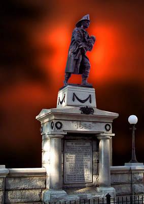 Burning Statue Digital Art - 1898 Firemen Memorial St Joes Michigan by Thomas Woolworth