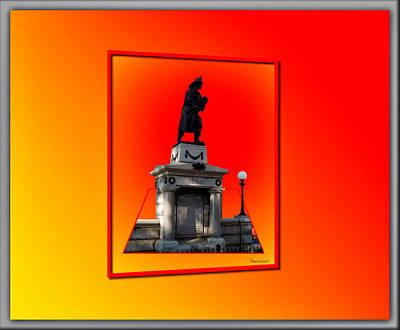 Burning Statue Digital Art - 1898 Firemen Memorial by Thomas Woolworth