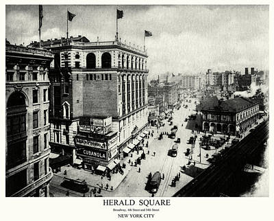 Painting - 1898 Herald Square New York City by Historic Image