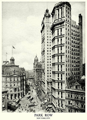 Painting - 1898 Park Row New York City by Historic Image