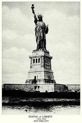 Painting - 1898 Statue Of Liberty  by Historic Image