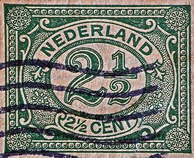 1899 Netherlands Stamp Art Print by Bill Owen
