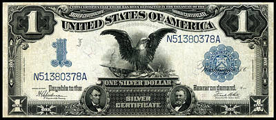 Painting - 1899 One Dollar Silver Certificate by Historic Image