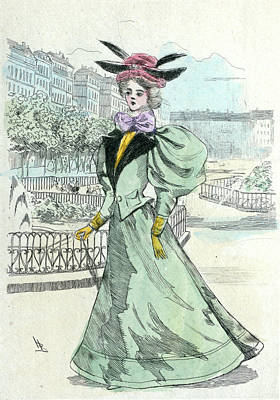 1899, Womens Fashion In Nineteenth-century Paris Art Print
