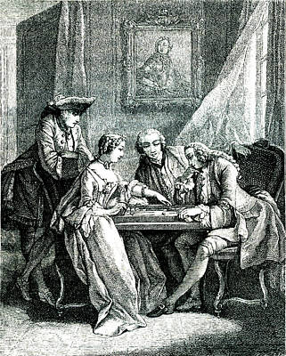 18th Century Backgammon Players Art Print