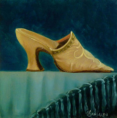 18th Century Shoe In Cream Original by Nancy Garbarini
