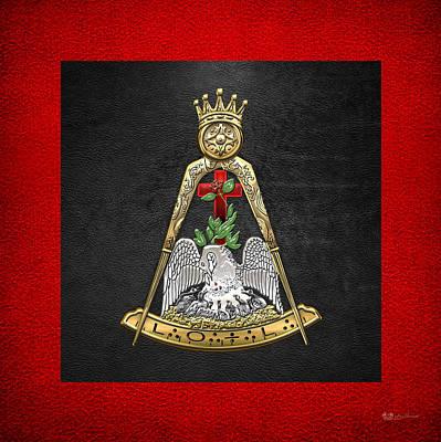 18th Degree Mason - Knight Rose Croix Masonic Jewel  Original by Serge Averbukh