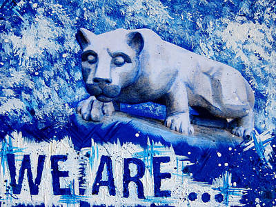 18x24 We Are Penn State Art Print by Michelle Eshleman