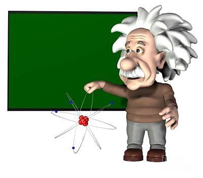 Albert Einstein, Artwork Art Print by Friedrich Saurer