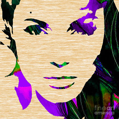 Movie Star Mixed Media - Angelina Jolie Collection by Marvin Blaine