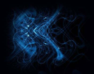 Abstract Digital Art - Blue Abstract by Modern Art Prints