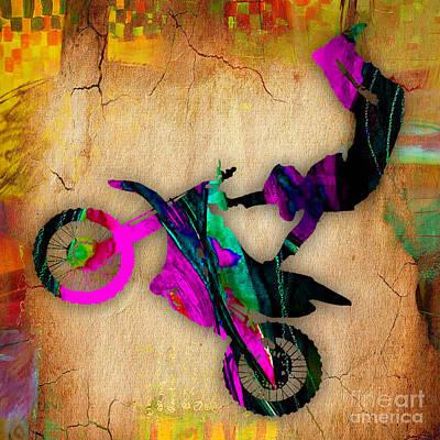 Sports Mixed Media - Dirt Bike by Marvin Blaine