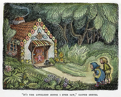 Fairy House Drawing - Grimm Hansel And Gretel by Granger