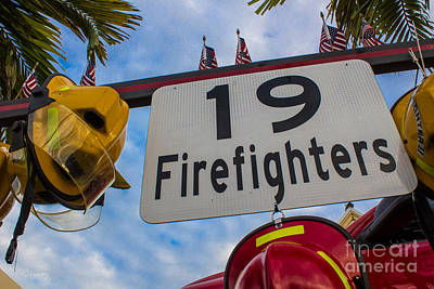 Photograph - 19 Hot Shot Firefighters Memorial by Rene Triay Photography