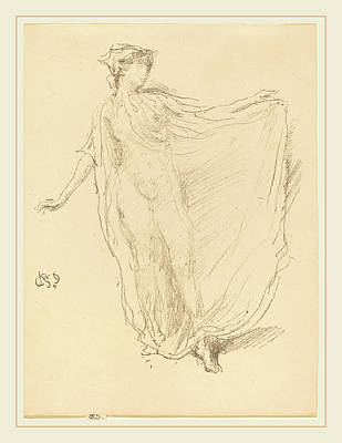 Dancing Girl Drawing - James Mcneill Whistler American, 1834-1903 by Litz Collection