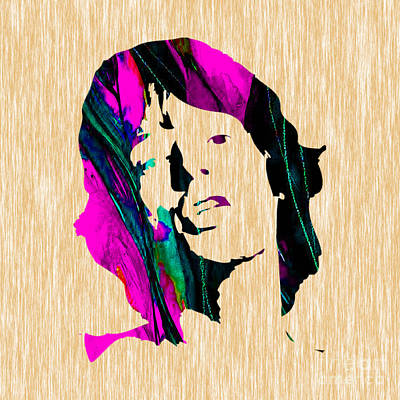 Mixed Media - Mick Jagger by Marvin Blaine