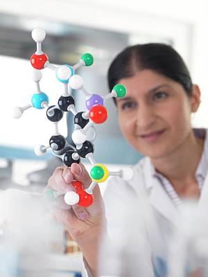 Molecular Model Art Print by Tek Image