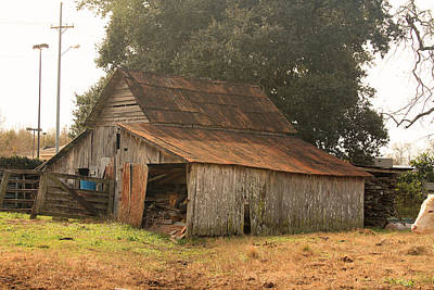 Photograph - Old Barn by Ronald Olivier