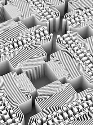 Quantum Computer Art Print