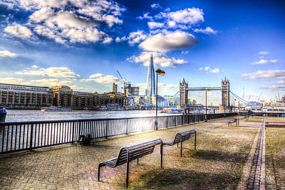 Belfast Bridge Photograph - River Thames View by David Pyatt