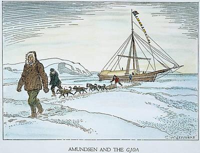 Roald Amundsen (1872-1928) Art Print by Granger