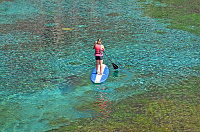 Sports Royalty-Free and Rights-Managed Images - Standup Paddle Board by Elijah Weber