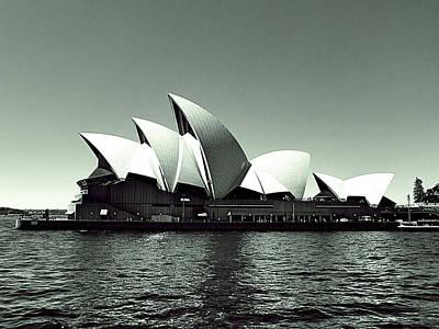 Airplane Paintings - Sydney opera house by Girish J