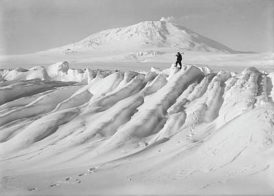 Erebus Photograph - Terra Nova Antarctic Exploration by Scott Polar Research Institute