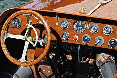 Classic Raceboat Details Art Print by Steven Lapkin