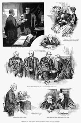 U.s. Supreme Court, 1891. Art Print by Granger
