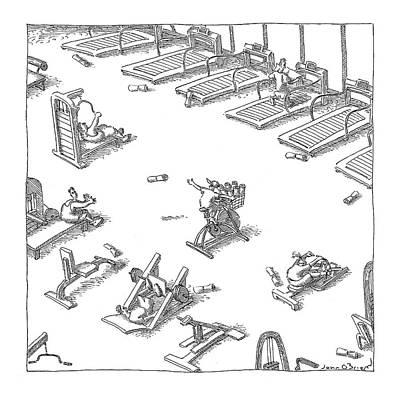 Fitness Drawing - New Yorker November 7th, 2005 by John O'Brien