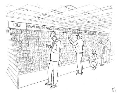 Paul-noth Drawing - New Yorker July 31st, 2006 by Paul Noth