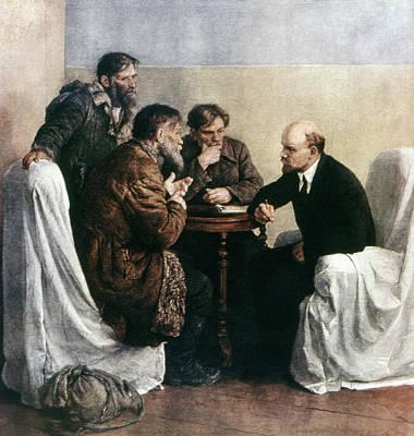 1910s Painting - Vladimir Lenin (1870-1924) by Granger