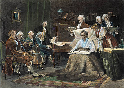 Viennese Painting - Wolfgang Amadeus Mozart (1756-1791) by Granger
