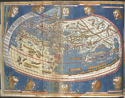 World Map Art Print by British Library