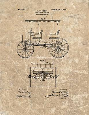 1900 Automobile Patent Art Print