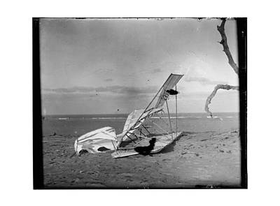 Negative Photograph - 1900 Crumpled Wright Brothers Glider by MMG Archives