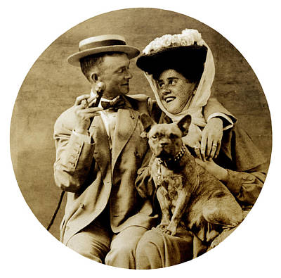 1900 Happy Young Couple Art Print by Historic Image