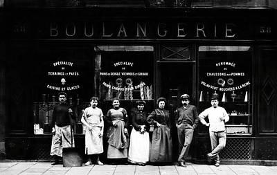 Boulangerie Photograph - 1900 Parisian Bakery by Historic Image