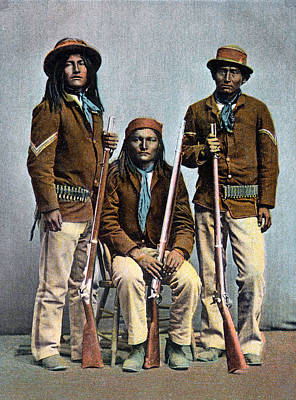 Painting - 1900 Us Army Apache Indian Scouts by Historic Image